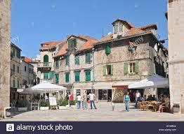 croatia split old houses at trg brace radic square in split