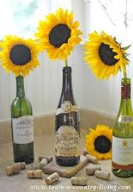 Centerpieces With Sunflowers by Unique Twine Wrapped Wine Bottle Centerpieces With Sunflowers