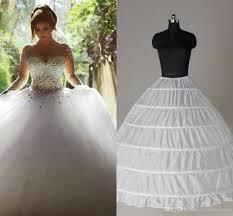 hoop wedding dress top quality gown 6 hoops petticoat wedding slip crinoline in
