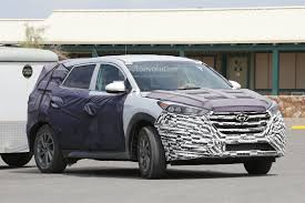 hyundai tucson 2014 modified all new 2016 hyundai tucson spied with less camouflage in america