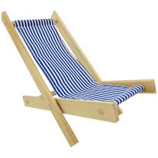 Folding Chair Fabric Toy Wood Lounge Folding Chair Blue U0026 White Stripe Fabric Toy
