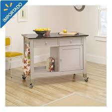 compra isla de cocina movil sauder original cottage gris claro al