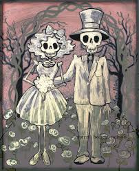 day of the dead wedding gift mexican folk art print bride and details this day of the dead