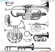 10 images of brass instruments coloring pages brass family