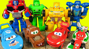 disney pixar cars transformers surprise eggs optimus prime shows