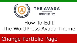 avada theme portfolio order how to change a wordpress avada university portfolio page youtube