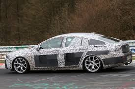 vauxhall buick vauxhall insignia spy shots big saloon discovers its sleeker side