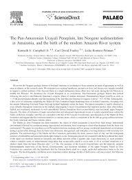 Jccc Map The Pan Amazonian Ucayali Peneplain Late Neogene Sedimentation In
