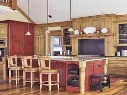 Kitchen Red Cabinets Rustic Red Kitchen Cabinets Vlaw Us