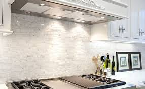 white kitchen mosaic backsplash ideas white marble