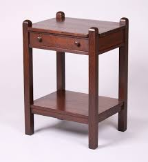traditional furniture stickley brothers one drawer nightstand refinished unsigned