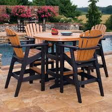 Outdoor Bar Patio Furniture - pleasant bar height patio table and chairs boundless table ideas