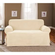 2 piece t cushion sofa slipcover sure fit sofa slipcovers