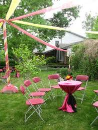 Backyard Graduation Party by Graduation Party Set Up Diy Pinterest Grad Parties