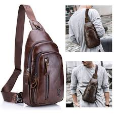 brown crossbody bags for men leather chest bags online newchic