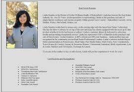 Sample Real Estate Resume Resume Biography Template Bio Resume Sample Resume Bio Example