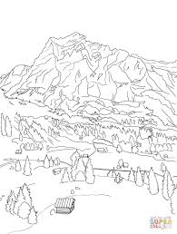 Swiss Alps Map Swiss Alps Coloring Page Free Printable Coloring Pages