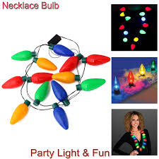 flashing christmas light bulbs led light up flashing jumbo christmas bulb necklace ls party