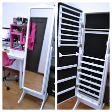 Jewelry Box Mirror Stand Bedroom Inspiring Unique Safety Storage Design With Exciting