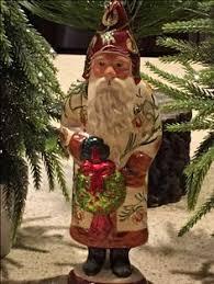 2016 vaillancourt brocaded coat santa with gold ornaments