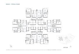 West Wing Floor Plan 2 Bhk 3 Bhk Flats In Goregaon West Property In Goregaon West