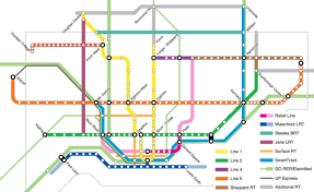 Toronto Subway Map Planners Want Public U0027s Input On U0027motherlode U0027 Of Gta Transit