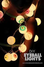 diy eyeball lights sharpies halloween garland and garland