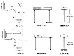 Standing Reception Desk Standard Office Chair Caster Custom Standing Height Reception Desk