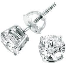 gold stud earrings for men this set of 14k white gold earrings diamond studs