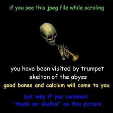 Trumpet Player Memes - skull trumpet know your meme