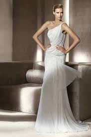 Wedding Dress On Sale One Shoulder Chiffon Unique White Wedding Dress On Sale Buy Cheap