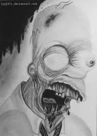 zombie homer simpson drawing by lyyy971 on deviantart
