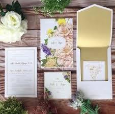 wedding invitations jakarta colorful floral wedding invitation suite envelope liner