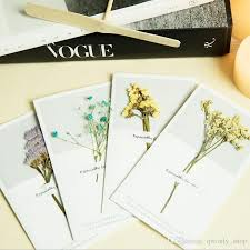 handmade invitations 11 styles korean dried flowers greeting cards for christmas