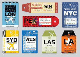 travel tags images Vintage luggage tags travel labels vector set badge for baggage jpg