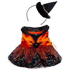 Halloween Costumes Teddy Bear Sequin Witch Costume 2 Pc Build Bear Workshop Build