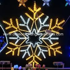 outdoor hanging snowflake lights ornament christmas hanging snowflake motif led light