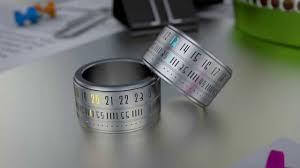 Futuristic Clock Digital Led Futuristic Ring Clock Rotating Finger Ring Watches