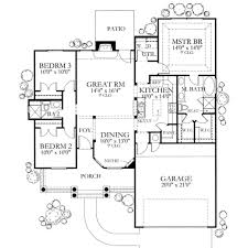 mediterranean style house plan 3 beds 2 baths 1355 sq ft plan