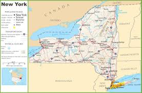 Map Of New York And Manhattan by New York Highway Map