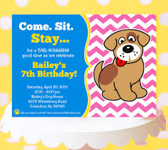 Invitation Party Card Dog Party Invitations Theruntime Com