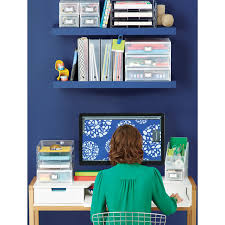 Small Desktop Shelving Like It Small Desktop Station The Container Store