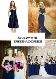 20 amazing navy blue bridesmaid dress ideas weddingomania