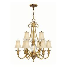 Brass Light Gallery by 4887bb Burnished Brass 2 Tier Chandelier Light 9 Light