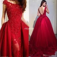 distributors of discount short lace prom dresses detachable skirt