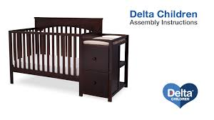 delta convertible crib toddler rail delta children layla 4 in 1 crib u0027n u0027 changer assembly video youtube