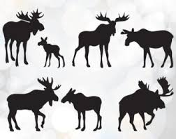 moose template moose svg etsy