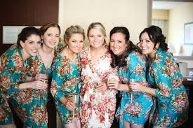 and bridesmaid robes set of 6 floral kimono crossover patterned robe bridesmaids