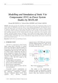 var modeling and simulation of static var compensator svc in power