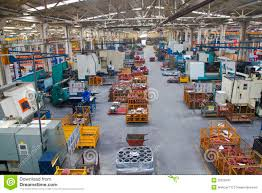industrial manufacturing shop floor in a factory stock image